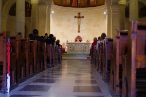 Mass in the Church of St. Joseph.