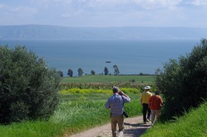 Walk the path leading to Capernaum on the shores of Galilee.