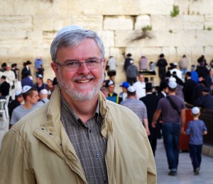 Dr. Ian Adnams at the Western (Wailing) Wall in Jerusalem.